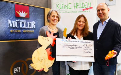 "Metzgerei Robert Müller unterstützt Kinder- & Jugendhospiz ""Kleine Helden"" Osthessen e. V."